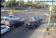Intersection Crash - WHOA!