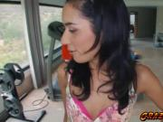 Sweet Tia Cyrus loves a hard dick to fuck