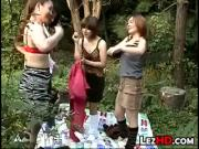 Lesbian Foursome In The Forest