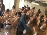 Japanese Schoolgirls Learning How To Cum