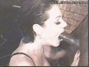 whore swallows giant black cock