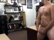 Straight pawnshop guy tugging for cash