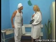 Clinic Sex Blonde Sucks Cock