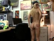 Tight blonde babe nailed by pawn dude at the pawnshop