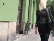 Czech babe hard fucked in public