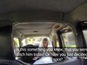 Taxi driver fucks runaway bride on backseat
