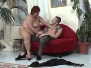Huge Redhead Babe Stuffs Throbbing Penis In Mouth Pussy