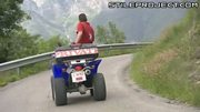 Jennifer Love buttfucked on four-wheeler and rock climbing