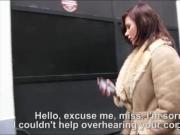 Amateur brunette Czech girl Anna Polina fucked for cash