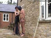 Mistress Gently Beats Guy's Cock