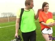 Teen twirking on dick first time Dutch football player pummeled by