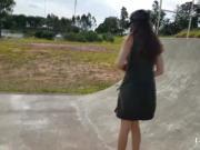 Sex vibrator in public skate park