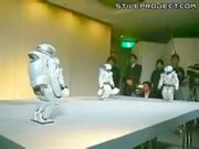 Robots dance together