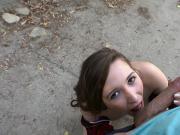 Brunette teen Hayden Hennessy fucked hard outdoor