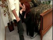 big tit redhead milf fucked hard in all three holes