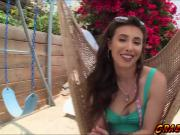 Perverted babe Casey Calvert anal fucked by humongus cock