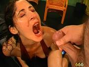 Group pissing on lusty beauty