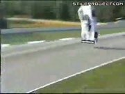 Race car doing a backflip