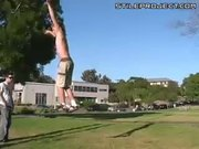 Backflip on a slackline