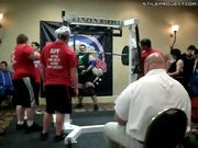 Weightlifter lifts 1000 pounds and projectile vomits on judge then faints