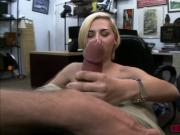 Gorgeous babe Stevie Sixx fucks in the office for cash