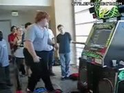 Fat Guy With Nimble Feet Playing DDR