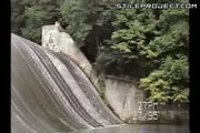 Crazy ass slides down a dam