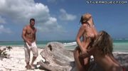 Roberta Gemma Threesome On The Beach