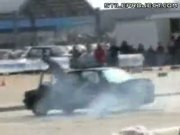 Epic Fail Car Spinning Stunt - Guy Crushed Underneath Car