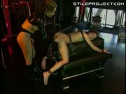Hot lesbian dominatrix whips and fucks her slave Kitty Yung