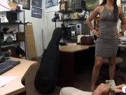 Sexy customer pawns her twat and rammed in the backroom