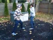Kid Gets Kicked In Head While Play Fighting