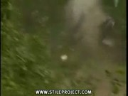rally car flips over and over