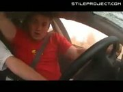 awesome car crash - car flips over with camera recording inside