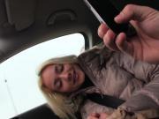 Hitch hiking blonde sends nude selfies
