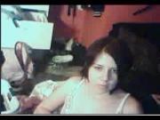 Brunette cutie on webcam