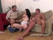 Bad wife cheats on her older husband