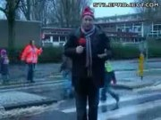 Weather Can Be Hazardous - Reporter hit by car