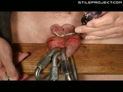 Self Nut Sack Dumbbell Piercing - Part 1 Of 3