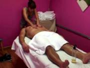 Asian masseuse strips to her underwear
