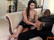 Horny chick Lou Charmelle fucking a huge black cock