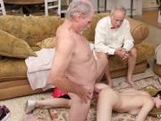 Old aunty and old men sucking cock Frankie heads down the Hersey