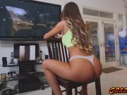 Lovely babe August Ames having a blast