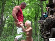 Euro Zazie Skymm fucked outdoor in missionary position
