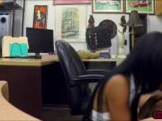 Ebony babe Brittney White takes a big cock in the office