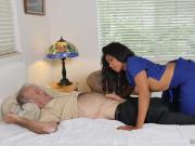 Nurse Jenna Foxx fucks with old rich men