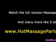 Ebony masseuse stunner takes facial