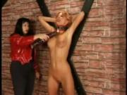 Slim Chick Punished While Restrained Naked