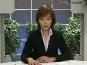 Japanese News Reporter Bukakked While Giving The News