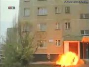 Suicider Sets Himself On Fire Before Falling Out Window